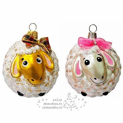 Новогодние шары с овечкой