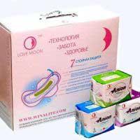 Гигиенические лечебные прокладки LOVE MOON с анионовым чипом